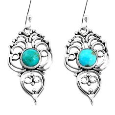 925 silver 3.13cts green arizona mohave turquoise dangle earrings jewelry p13378