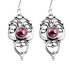 3.42cts natural red garnet 925 sterling silver dangle earrings jewelry p13380