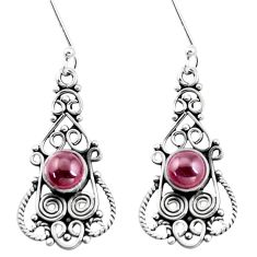 3.42cts natural red garnet 925 sterling silver dangle earrings jewelry p13397