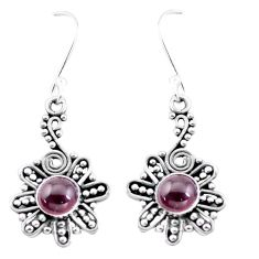 3.27cts natural red garnet 925 sterling silver dangle earrings jewelry p13429