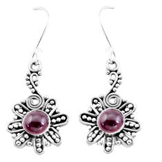 3.27cts natural red garnet 925 sterling silver dangle earrings jewelry p13431