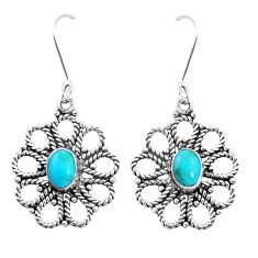 3.52cts green arizona mohave turquoise 925 silver dangle earrings jewelry p13462