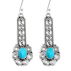 3.35cts green arizona mohave turquoise 925 silver dangle earrings jewelry p13486