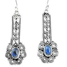 925 sterling silver 3.13cts natural blue labradorite dangle earrings p13496