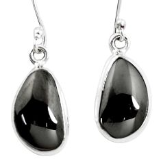 10.31cts natural shungite 925 sterling silver dangle earrings p13688