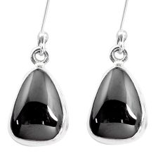 10.78cts natural shungite 925 sterling silver dangle earrings p13691