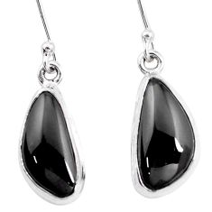 10.31cts natural purple shungite 925 sterling silver dangle earrings p13693