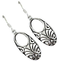Indonesian bali java island 925 sterling solid silver dangle earrings p1407