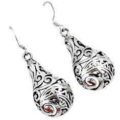 Modern teardrop 925 sterling solid silver dangle earrings p1409