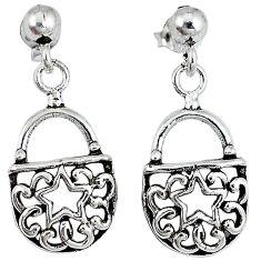 Purse of stars 925 sterling solid silver dangle earrings p1445