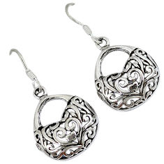 Indonesian bali java island 925 sterling silver dangle sexy purse earrings p1459