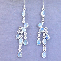 14.26cts natural rainbow moonstone 925 silver chandelier earrings jewelry p15204
