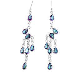 925 silver 16.20cts multi color rainbow topaz chandelier earrings jewelry p15206