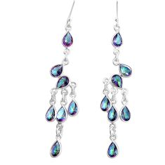 16.23cts multi color rainbow topaz 925 silver chandelier earrings jewelry p15208