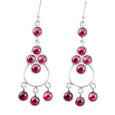 17.95cts natural red garnet 925 silver chandelier earrings jewelry p15214