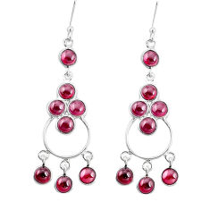16.85cts natural red garnet 925 silver chandelier earrings jewelry p15215