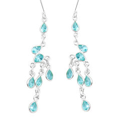 13.55cts natural blue topaz 925 sterling silver chandelier earrings p15274
