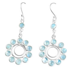 12.83cts natural rainbow moonstone 925 silver chandelier earrings jewelry p15285