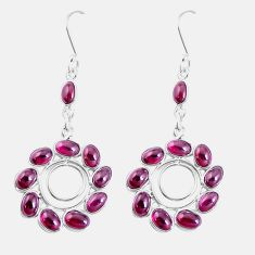 20.07cts natural red garnet 925 sterling silver chandelier earrings p15295