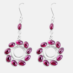 18.68cts natural red garnet 925 sterling silver chandelier earrings p15296