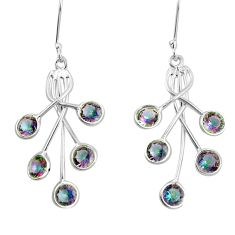 9.16cts multi color rainbow topaz 925 sterling silver chandelier earrings p15311