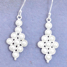 8.22cts natural white pearl 925 sterling silver earrings jewelry p15336