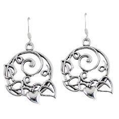 Indonesian bali java island 925 sterling solid silver dangle earrings p1551