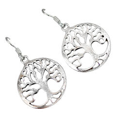 Tree in which life and death are enclosed 925 silver tree of life earrings p1565