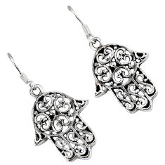 Indonesian bali java island 925 silver hand of god hamsa earrings jewelry p1570