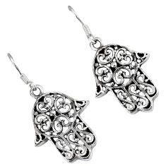 Indonesian bali java island 925 sterling silver hand of god hamsa earrings p1571