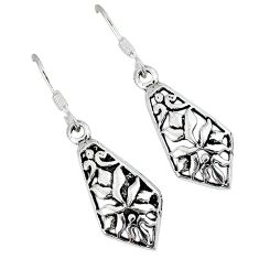 Indonesian bali java island 925 sterling plain silver dangle earrings p1575