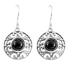 8.54cts natural black onyx 925 sterling silver dangle earrings jewelry p16401