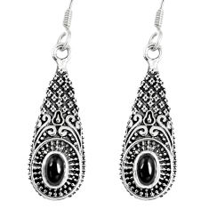 925 sterling silver 2.85cts natural black onyx dangle earrings jewelry p16405