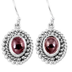 4.71cts natural red garnet 925 sterling silver dangle earrings jewelry p16423