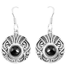 3.24cts natural black onyx 925 sterling silver dangle earrings jewelry p16433
