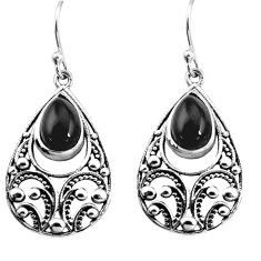 5.42cts natural black onyx 925 sterling silver dangle earrings jewelry p16449