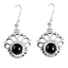 6.83cts natural black onyx 925 sterling silver dangle earrings jewelry p16461