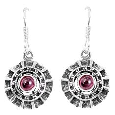 1.81cts natural red garnet 925 sterling silver dangle earrings jewelry p16466