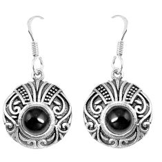 2.94cts natural black onyx 925 sterling silver dangle earrings jewelry p16490
