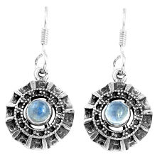 925 sterling silver 1.81cts natural rainbow moonstone dangle earrings p16497