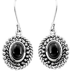 925 sterling silver 4.71cts natural black onyx dangle earrings jewelry p16511