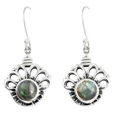 925 sterling silver 6.32cts natural blue labradorite dangle earrings p16519