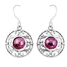 8.83cts natural red garnet 925 sterling silver dangle earrings jewelry p16530