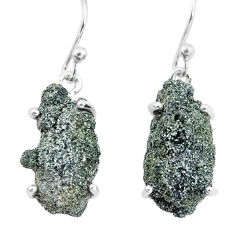 18.60cts natural green seraphinite in quartz 925 silver dangle earrings p16702