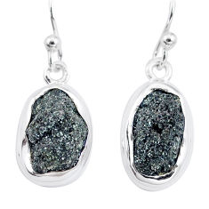 11.62cts natural green seraphinite in quartz 925 silver dangle earrings p16703