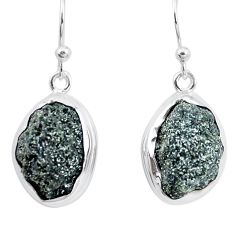 925 silver 17.95cts natural green seraphinite in quartz dangle earrings p16707