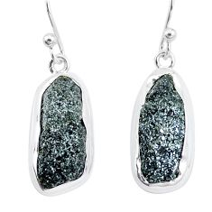 925 silver 16.17cts natural green seraphinite in quartz dangle earrings p16718