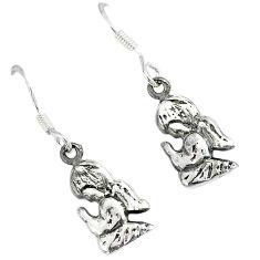 925 silver indonesian bali style solid dangle baby angel prayer earrings p1683