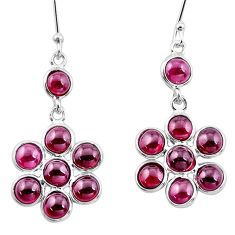 925 sterling silver 14.06cts natural red garnet chandelier earrings p21248