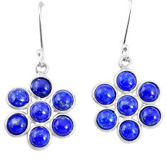 10.28cts natural blue lapis lazuli 925 silver chandelier earrings p21256